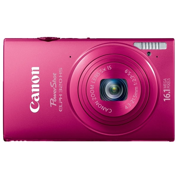 Canon PowerShot ELPH 320HS 16.1MP Pink Digital Camera