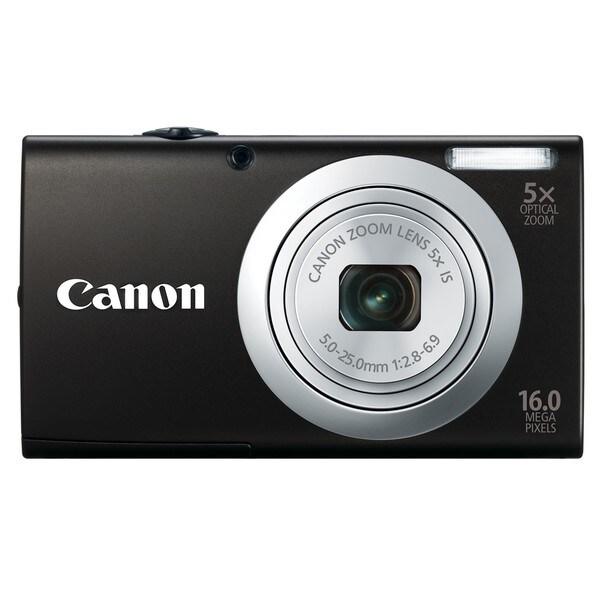 Canon PowerShot A2400IS 16MP Black Digital Camera