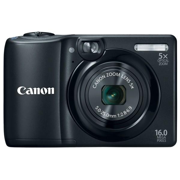 Canon PowerShot A1300 16MP Black Digital Camera