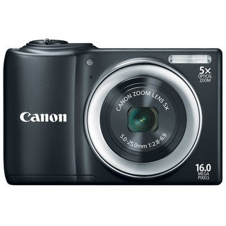 Canon PowerShot A810 16MP Black Digital Camera