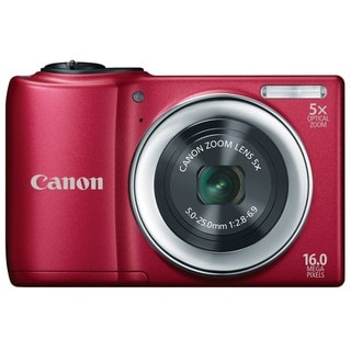 Canon PowerShot A810 16MP Red Digital Camera