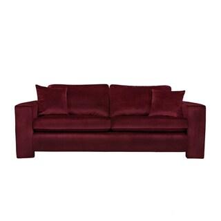 angelo:HOME Angelo Cabernet Red Velvet Sofa