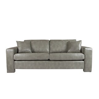 angelo:HOME Angelo Vintage Dove Grey Renu Leather Sofa