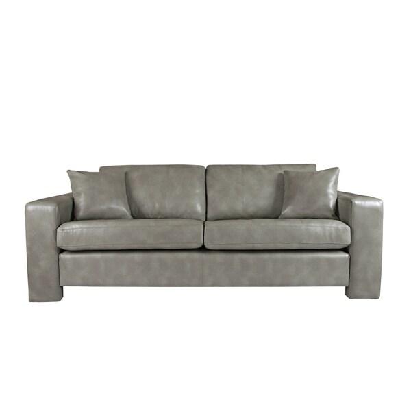 angelo:HOME Angelo Vintage Dove Grey Renu Leather Sofa
