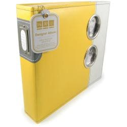 We R Memory Keepers Yellow Designer 3-Ring Photo Album