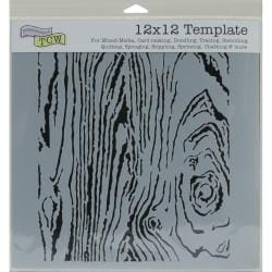 Crafter's Workshop Woodgrain Plastic Scrapbooking Template