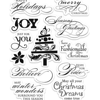 Penny Black Winter Wonders Clear Acrylic Stamps (1 Sheet)