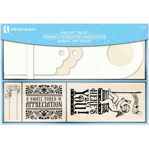 Inkadinkado 'Wine Tag' 27-piece Mounted Rubber Stamp Set