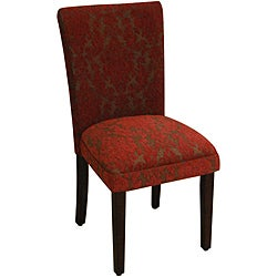 Red Floral Parson Chairs (Set of 2)