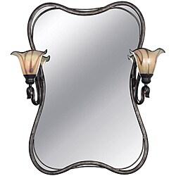Shamash Tuscan Silver 2-light Vanity Mirror