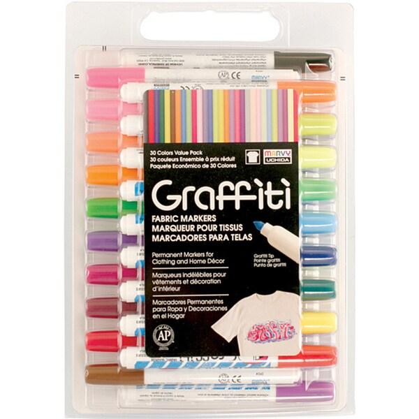 Graffiti Fabric Marker Value Set (Pack of 30)