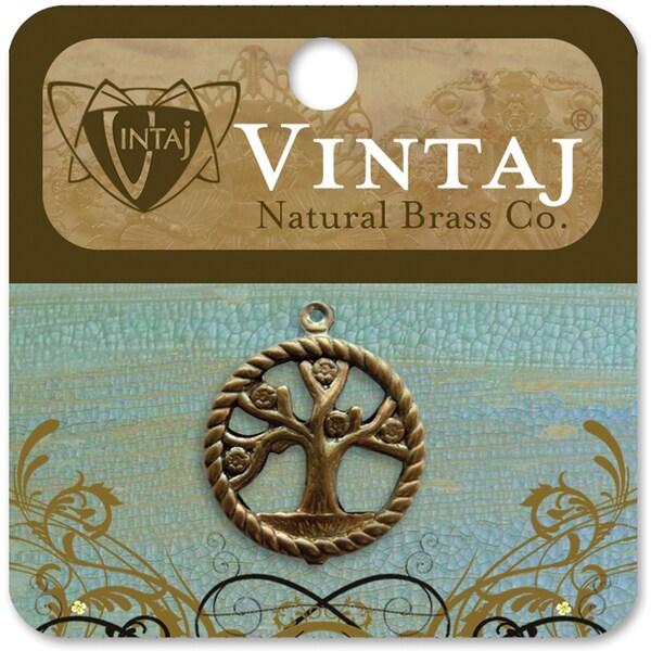 Vintaj Tree of Life Metal Pendant