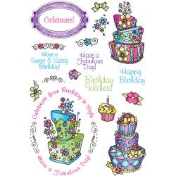 JustRite Topsy Turvy Cakes Clear Stamp Sheet