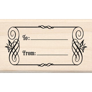 Inkadinkado 'To and From Tag' Mounted Rubber Stamp