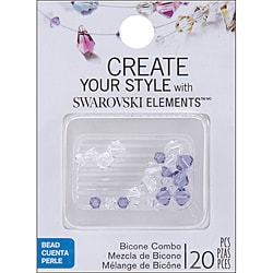 Jolee's Jewels  Elements Bicone Combo-Tanzanite 20/Pkg