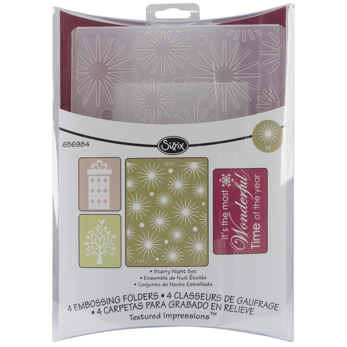 Sizzix 'Starry Night' Textured Impressions Embossing Folders (Pack of 4)