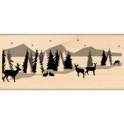 Penny Black 'Snowscape' Rubber Stamp
