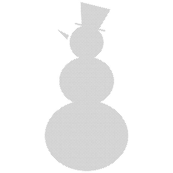 Penny Black 'Snowman Shadow' Rubber Stamp