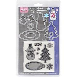 Sizzix Framelits Clear Stamps 'Snowman' Die Set 8/pkg