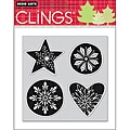 Hero Arts 'Snowflake Shapes' Cling Stamps