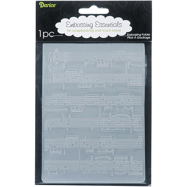 Darice 'Sheet Music' Embossing Folder
