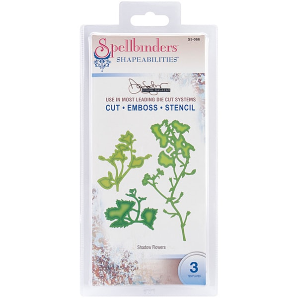 Spellbinders Shapeabilities 'Shadow Flowers' Die Templates (Pack of 3)