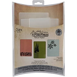 Sizzix Texture Trades 'Seasonal Stuff' by Tim Holtz Embossing Folders