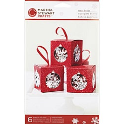 Martha Stewart 'Snowflake Ornament' Treat Boxes (Pack of 6)