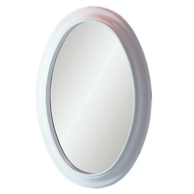 Decolav White Waterfront Oval Mirror
