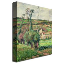 "24"" x 16"" Camille Pissarro 'The Cabbage Slopes, Pontoise, 1882' Canvas Art"
