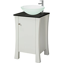 Decolav White Wood Granite-top Vanity
