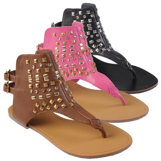 Journee Collection Women's 'Veronica' Studded Ankle Cuff Sandals
