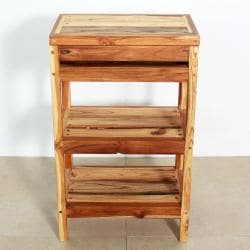 Teak Storage Shelf 18 W x 11-1/2 D x 30 in H Teak Oil (Thailand)