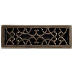 Brass Elegans Victorian 4 x 14 Solid-Brass Floor Register