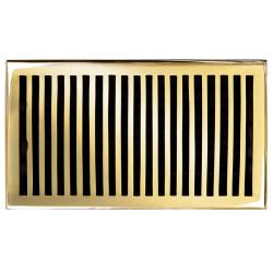 Brass Elegans Contemporary 6 x 10 Brass Floor Register