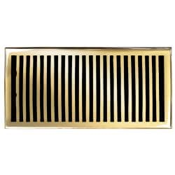 Brass Elegans Contemporary 6 x 12 Brass Floor Register