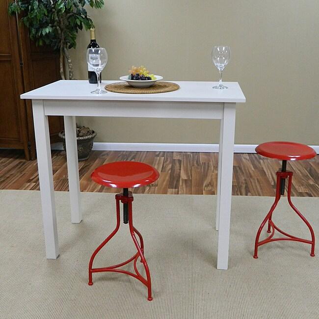 Red Adjustable Pavina Barstool