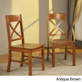 Solid Wood Dining Chairs (Set of 2)