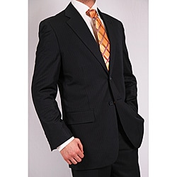 Ferrecci Men's Two-piece Navy Blue Pin Stripe Suit