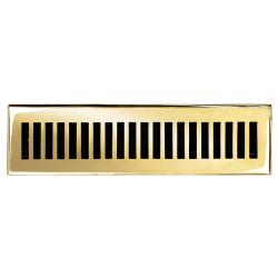 Brass Elegans Contemporary 2.25 x 12 Brass Floor Register