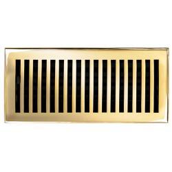 Brass Elegans Contemporary 4 x 10 Polished Brass Floor Register