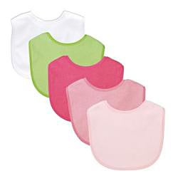 iPlay Basic Waterproof Terry Bibs (Pack of 5)