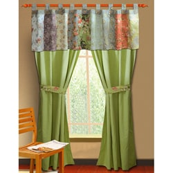 Greenland Home Fashions Blooming Prairie Valance Patchwork