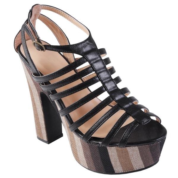 Journee Collection Women's 'Booker' Strappy High Heel Platform Sandal