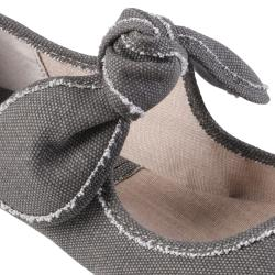 Big Buddha Women's 'Baily' Knotted Bow Accent Canvas Slip-on Flats