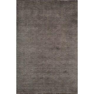 """Loft Studio Charcoal Hand-Loomed Wool Rug (7'6"""" x 9'6"""")"""