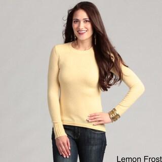 Cullen Women's Cashmere Hi-low Crew Neck Sweater