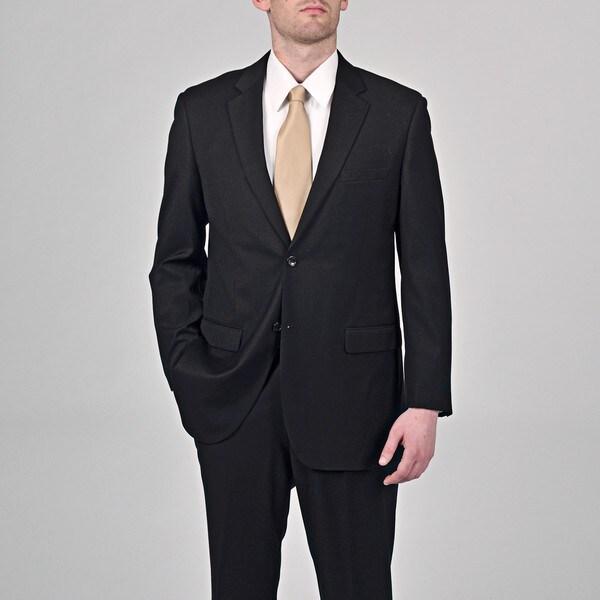 Caravelli Italy Men's 'Superior 150' Black 2-button Suit