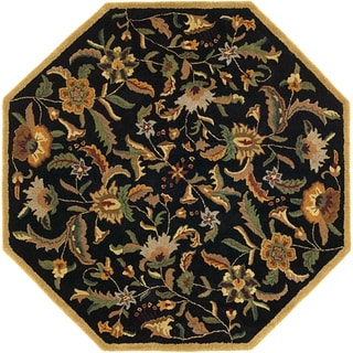 Hand Tufted Paradise Black Wool Rug (8' x 8')