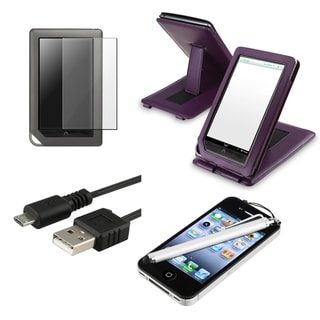 Case/ Screen Protector/ Stylus/ Cable for Barnes & Noble Nook Color